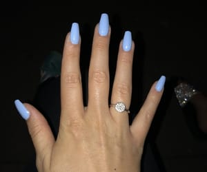 beauty, nailcare, and blue image