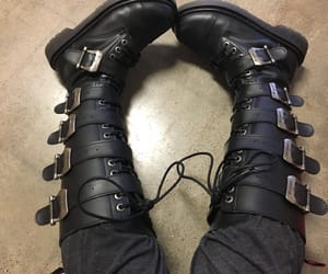 badass, black boots, and boots image