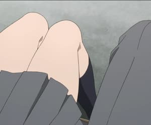 anime, legs, and pale image