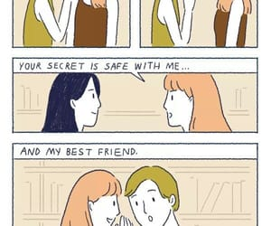 best friends, cartoon, and comic image