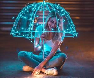 believe, umbrella, and blue image