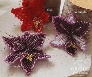 bijoux, handmade, and orchid image