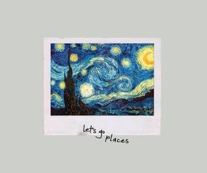 art, gogh, and starry night image