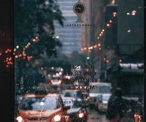 city, rain, and autumn image