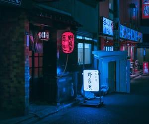 night, japan, and lights image