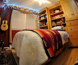 bedroom, tumblr, and fisheye image