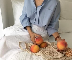 peach, aesthetic, and blue image