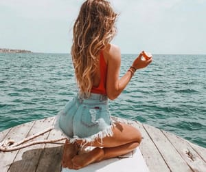 jeans, summer, and travel image