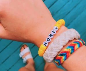 bracelet, friendship, and hilos image