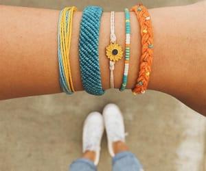 blue, bracelet, and friendship image