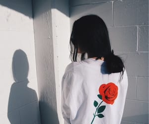 girl and rose image