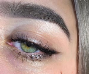 blonde, eye, and green image