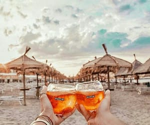 beach, cheers, and friday image