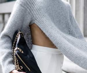 fashion, pullover, and white image