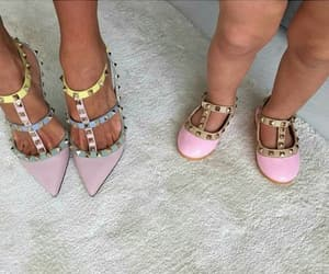 daughter, mother, and shoes image