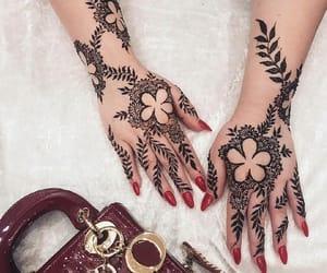 arabic, henna, and nails image