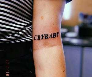 crybaby, tattoo, and tatted image