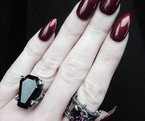nails, black, and burgundy image