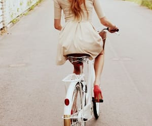 bycicle and girl image
