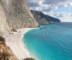 beach, Greece, and lefkada image