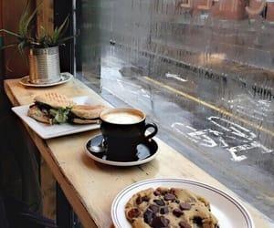 coffee, food, and rain image