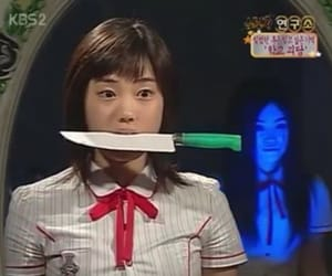 ghost, girl, and knife image