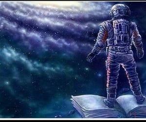 book, galaxy, and shining image