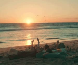 beach, family, and friendship image