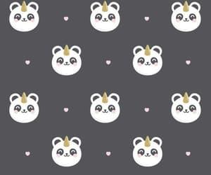 unicorn, panda, and wallpaper image