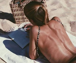 girl, read, and tanning image