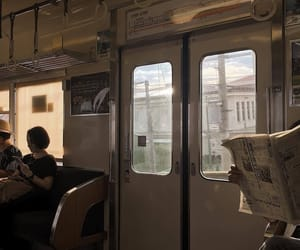 aesthetic, train, and alternative image