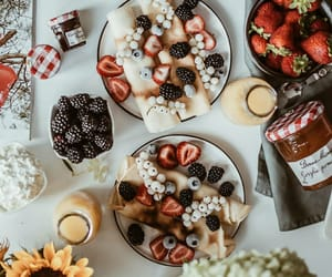 breakfast, crepes, and food image