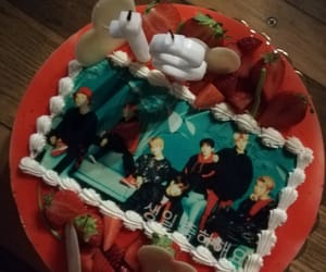 birthday cake, happy birthday, and jin image