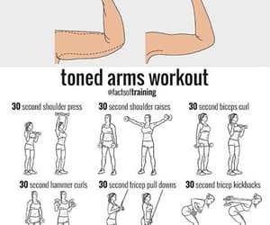 arms, goals, and workout image