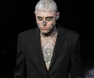 fashion, heart, and zombie boy image