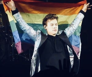 Harry Styles, icon, and rainbow image
