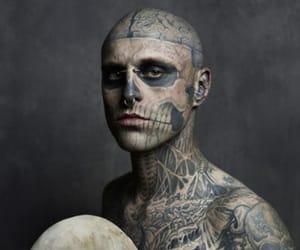 tattoo, rick genest, and skull image