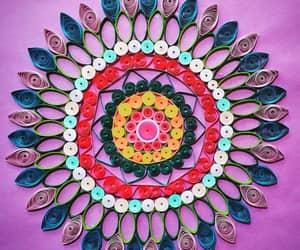 art, green, and mandala image