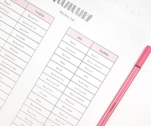 notes, printables, and pink notes image