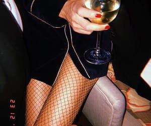 black, wine, and classy image