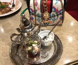 bag, girly, and mint tea image