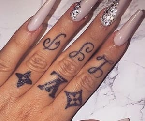 large, white, and white nails image