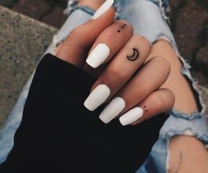 black, white, and white nails image