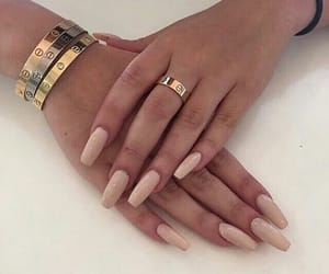gold, bracelet, and Nude image