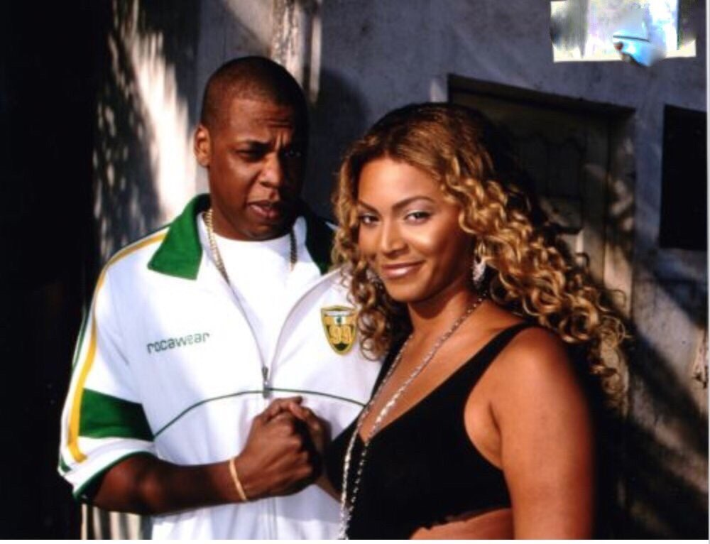 Beyonce Jay Z On Set Of 03 Bonnie Clyde Music Video In Mexico October 2002