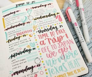 writing, bujo, and bullet journal image