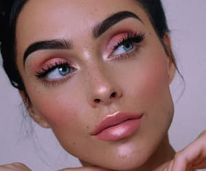 beauty, nude makeup, and lips image
