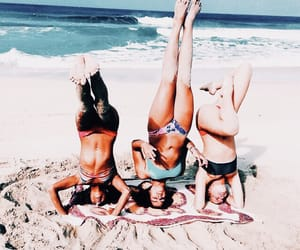 beach, squad, and besties image