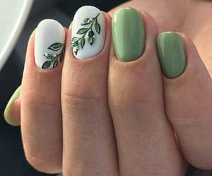 nails, nature, and nailart image