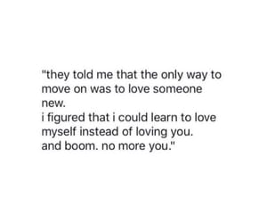 move on, love, and qoutes image